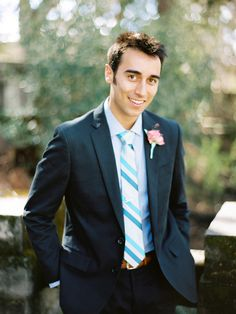 Shannon Leahy Events - Carnival Inspired Wedding - San Rafael - Groom - Suit - Portrait