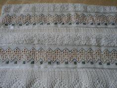 toallas bordadas en punto noruego