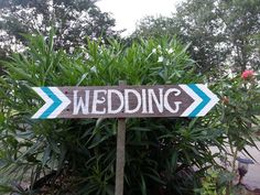 Chevron Wedding Signs ANY COLOR Chevron by TRUECONNECTION on Etsy, $45.00