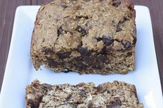Banana Chocolate Chunk Oatmeal Cookie Bread at thesweetslife.com