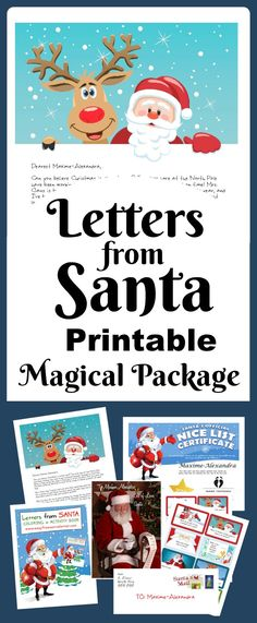 Letters from Santa - printable and personalized! Dozens of amazing combinations to help you create a highly personalized Santa Letter this Christmas! No more waiting by the mailbox! Free Printable Santa Letters, Free Letters From Santa, Personalized Letters From Santa, Santa Letter Template, Diy Letters, Christmas Jokes, Christmas Poster, Christmas Signs, Christmas Time