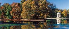 Badenburg Lake with Monopteros Germany Travel, Park, Castles, Museum, Mansions, History, House Styles, Historia, Chateaus