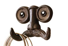 Mustache Wall Hook - a way to put a quiet smile on your guest's face. or Guest Room Closet? Dormer Bedroom, Simple Room Decoration, Creepy Movies, Curiosity Shop, Entry Way Design, Tin Man, Iron Wall, Dream Decor, Cool Stuff