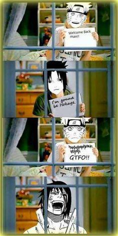 Haha! Sasuke & Naruto