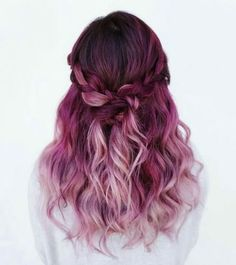 pink shades from dark to light #haircolor #ombre