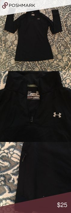 Under armor quarter zip Under armor quarter zip. Worn twice. With a small side pocket. Under Armour Tops Tees - Long Sleeve