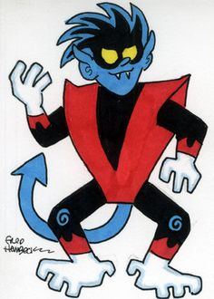 Fred-Hembeck-Color-Sketch-Card-Nightcrawler-X-Men-Marvel-1-1