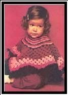 Free crochet baby patterns from the 60s and 70s: This is a very easy, Granny Square toddler poncho!