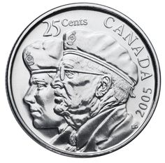 2005 Year of the Veteran quarter Remembrance Canada coin 25 cents