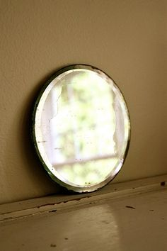 Vintage desilvered round mirror by mysweetsavannah on Etsy, $14.00