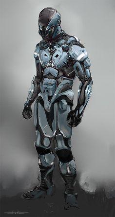 -- Share via Artstation iOS App, Artstation © 2016 Character Concept, Concept Art, Character Design, Josh Norman, Cyber Warfare, Tactical Armor, Armor Clothing, Gundam, Sci Fi Armor