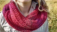 Foulard infini rouge par GTricots sur Etsy