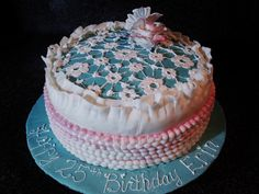 Swirls Cup~cakes:   Happy Birthday in Ruffles and Lace April 2012