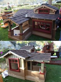 This work is for the dogs If you heard that a Builder or Architect provided detail and craftsmanship for the dogs, you probably wouldn't let them design or build your home. That's not the case with this dog project, or should I say Dog House Project. The Laguna Beach Animal Shelter is holding their first annual project pet house auction.