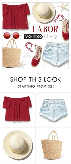 """Pack and Go - Labor Day"" by alexandrazeres ❤ liked on Polyvore featuring MANGO, Levi's, Sensi Studio, Soludos, ZeroUV, Packandgo, summerend and laborday"