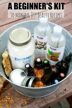 When you start making your own DIY beauty recipes, it can be hard to find all the supplies you need. Here's a beginner's kit for getting started in DIY! http://thepaleomama.com/2014/12/beginners-kit-making-diy-beauty-recipes/