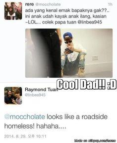 Papa Tuan thinks Mark looks like a roadside homeless in this pic XDXD lmao :D
