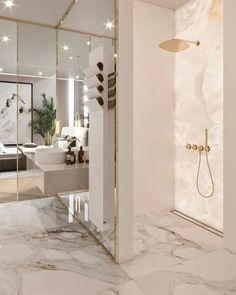 Luxury Bathroom Master Baths Marble Counters is definitely important for your home. Whether you choose the Luxury Bathroom Master Baths Photo Galleries or Luxury Bathroom Ideas, you will make the best Interior Design Ideas Bathroom for your own life. Luxury Interior Design, Bathroom Interior Design, Marble Interior, Gold Interior, Classic Interior, Interior Ideas, Luxury Home Decor, Contemporary Interior, Interior Inspiration