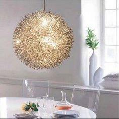 Round Ball Chandelier Handmade Aluminum Ceiling Lighting Living Room Hang Light #ModernContemporyNordic