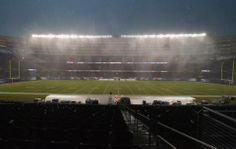 Ravens-Bears game delayed due to storm Baltimore Ravens Players, Bears Game, Soldier Field, Thunderstorms, Chicago Bears, Fields, Rain, Weather, Football