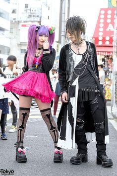 Visual Kei Fans in Harajuku w/ Sex Pot Revenge, Fernopaa, Strange Freak & Colorful Hair
