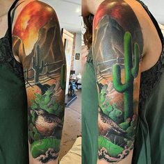 Phoenix Arizona Desert Half Sleeve tattoo