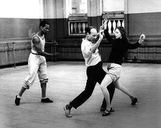 arthur mitchell, george balanchine, suzanne farrell - new york city ballet. Love!