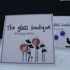 Great display idea. earrings fused glass dichroic studs