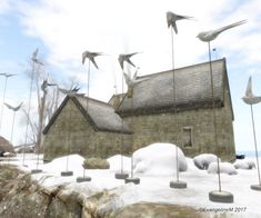 https://flic.kr/p/21GFdSW | Binemust_Second Life_Christmas | Another shot from Binemust. Yeah, I really like this place...http://maps.secondlife.com/secondlife/Binemust/76/77/21