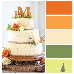 Orange and Green Fall Wedding Palette | Fall Inspired Wedding Color Palettes