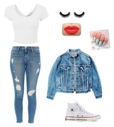 Jean Girl by geniemonroe on Polyvore featuring polyvore, fashion, style, Levi's, Frame Denim and Converse