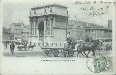 Marseille, la Porte d'Aix vers 1900.