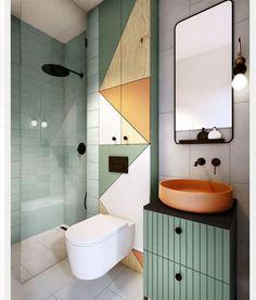 La salle de bains is not just a plus of more than three - Badezimmer /Toilette - Bathroom Decor Modern Bathroom Decor, Bathroom Interior Design, Modern Interior, Modern Decor, Interior Decorating, Bathroom Ideas, Bathroom Mirrors, Funky Bathroom, Classic Bathroom