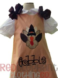 Thanksgiving turkey dress, girls Thanksgiving dress from www.redelephantclothing.com