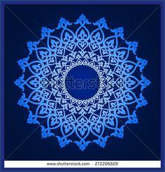 Vector abstract circular pattern design mandala style Round Pattern Mandala Abstract design of Persian- Islamic-Turkish-Arabic vector circle floral ornamental border - Shutterstock