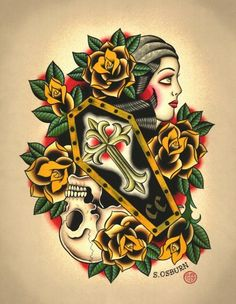 Scotty Osburn Tattoo Flash | KYSA #ink #design #tattoo