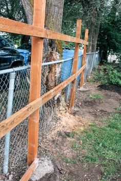 Cheap Privacy Fence, Privacy Fence Designs, Patio Privacy, Diy Fence, Backyard Fences, Backyard Landscaping, Yard Fencing, Backyard Ideas, Building A Fence