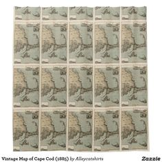 Vintage Map of Cape Cod (1885) Shower Curtain