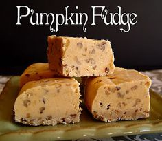 Pumpkin Fudge for Thanksgiving.