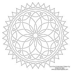 Embroidery pattern- sun knotwork