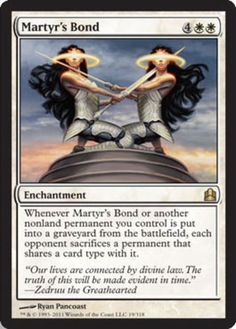 Martyr's Bond - Commander, Magic: the Gathering - Online Gaming Store for Cards, Miniatures, Singles, Packs & Booster Boxes Bond, Mtg Decks, Mtg Altered Art, Dungeons And Dragons Memes, Dragon Memes, Mtg Art, Magic The Gathering Cards, Alternative Art, Magic Cards