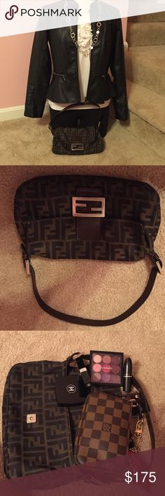 93ee51843a Authentic Fendi bag Authentic Fendi Zucca Print small bag. The picture  shows an example of
