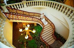 Gold-lined Stairs by Palazzo Verde - a TWIPP Platinum Member See details: http://themesnmotifs.net/s/palazzoverde