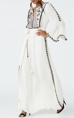 Bijou Long Sleeve Gown by FIGUE for Preorder on Moda Operandi