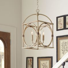 (Prefer this in brown)  Wayfair - Chesapeake 4 Light Candle-Style Chandelier