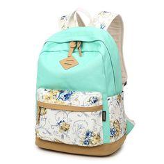 Stylish Women Flower printing backpacks Hot sale schoolbags for teenager girls large capacity double shoulder knapsack bookbag