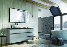 Meble łazienkowe/ bathroom furniture Lofty Collection Lofty, Double Vanity, Mirror, Bathroom, Furniture, Design, Home Decor, Washroom, Decoration Home