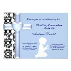 Sold this #damask #holycommunion boy invitation to NY. Thanks for you who purchased this.