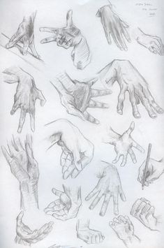 Hand Sketches by *Yiji on deviantART