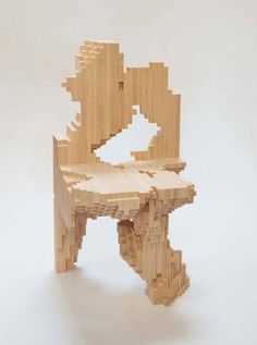 Timber Pixel Chair / #chair #design #furniture #decor